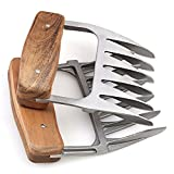 1Easylife Edelstahl Pulled Pork Krallen ,ÄUßERST FORMSTABILE Meat Claws ,Fleischkrallen mit Wooden...