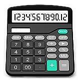 Taschenrechner, Splaks 12-stellig Standard Function Tischrechner Bürorechner Rechenmaschine Solar-...