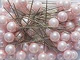 Perlen-Nadeln Deko-Nadeln Perle ROSA 6mm 100 Stück ACHTUNG! KEINE STECKNADELN