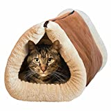 Mixse 2-in-1-Liegematte und -Kuschelhöhle für Katzen und Hundewelpen, mit selbstwärmender...