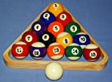 nanook Billardkugeln inkl. Holz-Dreieck, hochglanzpoliert im Set , Standardmaß 57,2 mm Ø