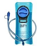 BIFY Wasserbeutel Trinkblase 2L Trinken Das Tragbare TPU Rucksack Hydration Camping Mund Trinken...