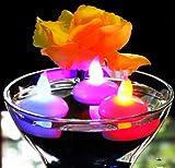 12 Schwimmkerzen Schwimmende LED Teelichter mit Farbwechsel - Kerzen für Pool, Badewanne, Teich,...