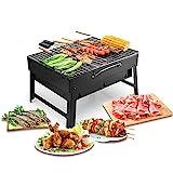 Uten Holzkohlegrills BBQ Portable Smoker Grill, Faltbare Grillwagen Outdoor Tischgrills...