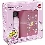 Emsa 516165 2-teiliges Geschenkset für Kinder, Brotdose und Trinkflasche, Kids Set Princess, rosa