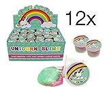 12x Glibberknete Knete Einhorn Slime Schleim Gummi / Glasschleim Spielknete / Kinderknete /...