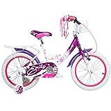16 Zoll Hi5Emily Kinderfahrrad mit Rücktritt für Mädchen ab 4 Jahren Fahrrad Stützräder,...