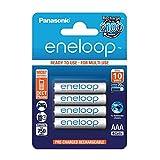 Panasonic eneloop, Ready-to-Use Ni-MH Akku, AAA Micro, 4er Pack, min. 750 mAh, 2100 Ladezyklen,...