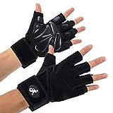 Opard Fitness Handschuhe Trainingshandschuhe mit Silica Gel Grip und Lange Adjustable...