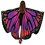 Overdose Frauen 197*125CM Weiche Gewebe Schmetterlings Flügel Schal feenhafte Damen Nymphe Pixie...