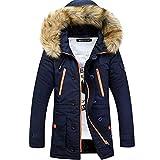Lemumu Men's Casual/Täglich Einfache Winter Mantel, Feste Kapuze Langarm regelmäßige Polyester,...