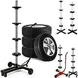 Fahrbarer Felgenbaum Reifenhalter für 4 Kompletträder Reifenwagen - bis max. 225 - leichtgängige...