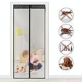 Fliegengitter Magnet Insektenschutz Fliegen Vorhang für Balkontür Wohnzimmer Klettband Fassung...