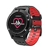 KOBWA GPS-intelligente Uhr, bunter Touch Screen IP67 imprägniern Sport-Uhr mit Pulsmesser...