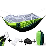 Cookey Outdoor Camping Hängematte Faltbare leichte Fallschirm Stoff Doppel Hängematte mit...