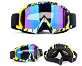 HXLONG Snowboardbrille,Motorrad Goggle Motocross Dirtbike Crossbrille Sportbrille Wind Staubschutz...