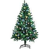 Amzdeal Weihnachtsbaum, Künstlicher Weihnachtsbaum Tannenbaum Christbaum mit 4 Farben 250 LED und 8...