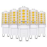 Albrillo 5er Pack 3.5W G9 LED Lampe 350 Lumen, 3000k warmweiß und Kein Flackern G9 LED Leuchtmittel...