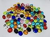 100 Stück 15mm große bunte Deko-Diamanten Brillianten Strasssteine Acryl-Steine bunt transparent...