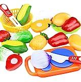 LAAT 12 STÜCKE Lebensmittel Spielzeug Schneiden Spaß Spielen Obst Lebensmittel Spielzeug...