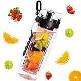 Wasserflasche, OMORC Fruit Infuser Sports Trinkflasche 1L Sportflasche Auslaufsicher, BPA-frei...