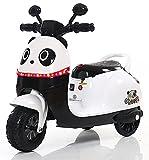 Klasse Kinder Elektro Roller Motorrad Dreirad mit Soundeffekten Panda White 6V 20Watt