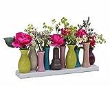 Keramikvasenset Blumenvase Keramikvasen bunt Vase Blumen Pflanzen Keramik Set Deko Dekoration (10...