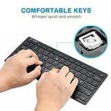 TeckNet X315 Ultra Slim Kabellose Mini Tastatur (QWERTZ, 2.4 GHz, 84 Tasten) Schwarz