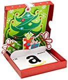 Amazon.de Geschenkgutschein in Geschenkbox - 50 EUR (Rot mit Weihnachtsbaum)