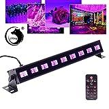 U`King UV Beleuchtung Schwarzlicht 9LEDs x 3Watt UV LED Bar Bühnenbeleuchtung mit Fernbedienung...