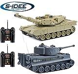 s-idee 22001 2 x Battle Panzer 99822 1:28 mit integriertem Infrarot Kampfsystem 2.4 Ghz RC RC...