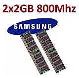 Dual Channel Kit SAMSUNG 2 x 2 GB = 4GB 240 pin DDR2-800 DIMM (800Mhz, PC2-6400) M378T5663QZ3-CF7...