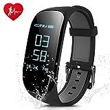 Fitness Tracker,CAMTOA Z17 HR Fitness Armband mit Herzfrequenz Monitor 0.96'' IP67 Wasserdicht Sport...