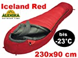 Alexika Extrem Schlafsack Mumienschlafsack - 23°C - Iceland Red für allerhöchste Ansprüche und...