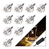 Gr4tec Bodeneinbaustrahler LED Aussen LED Bodeneinbauleuchten mit Schalter IP67 Wasserdicht Terasse...
