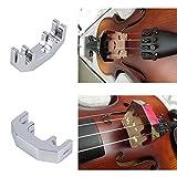 Mini Violine Uebungsdämpfer Metall Silber Fiddle Silent-Schalldämpfer