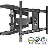 Invision® TV Wandhalterung - Ultrastarker Doppelarm - Schwenkbar Neigbar für 94 - 178 cm (37 - 70...