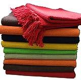 Fleckerlteppich Baumwolle Handweb Teppich Flickenteppich Fleckerl Handwebteppich (90 x 160 cm,...