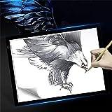 Leuchttisch A3 Leuchtkasten Unterstützte Einstellbare Helligkeit Tracing Handwerk Tattoo...