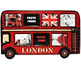 3-D Effekt _ XL - Fotocollage - Fotorahmen / Bilderrahmen - ' London - roter Doppeldecker Bus ' - 7...