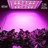 LED Pflanzenlampe, LENDOO Pflanzenleuchte Ultra dünn, 45W 225 LEDs Blau & Rot Licht Einstellbare...