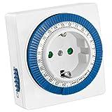 mumbi mechanische 3500W Zeitschaltuhr - 96 Schaltsegmente - Schaltknopf für Ein/Auto-Funktion -...