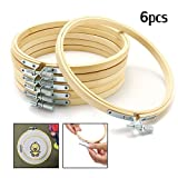 KING DO WAY 15cm, 6 pcs Stickrahmen, Kreuz Stitch Hoop Ring, Ring-Rahmen aus Bambus,...