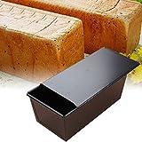 Antihaft Laib Pfanne, Toastbrot-Form mit Deckel-Metallbrot-Laib-Zinn für die Kuchen-und...