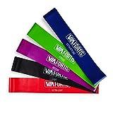 VIA FORTIS Premium Loop Band Set – 5 Fitnessbänder mit praktischer Tasche – Gymnastikbänder...