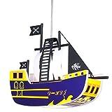 9,5 Watt LED Kinder Hängeleuchte Deckenleuchte Kinderlampe Leuchte Piratenschiff KITA