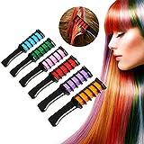Haarkreide Kamm,Supmaker 6 Farben Tragbare Hair Chalk Set für Karneval, Halloween, Partys,...