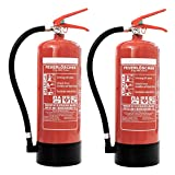 Feuerlöscher 2x 6kg ABC-Pulverlöscher mit Manometer EN 3 inkl. ANDRIS® Prüfnachweis mit...