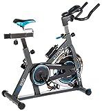 Indoor Cycle Indoorcycling mit Pulsmessung Fitnessbike Speed Bike Computer Schwungrad 18 kg...