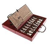 Sharplace Holz Chinesisches Klappbares Schachspiel Set, als Geschenk oder Sammlung